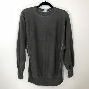 Champion Reverse Weave Men Grey Sweater XL